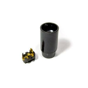 Lampunkanta sileä musta E14